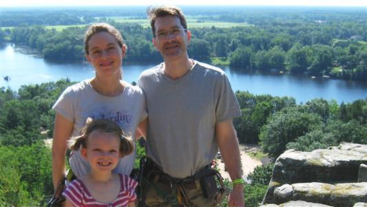 Hagerty family ziplining in Wisconsin (2013)